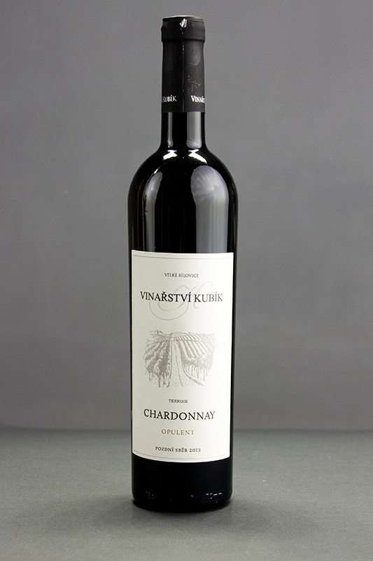 Chardonnay opulent 2012, pozdní sběr, Vinařství Kubík